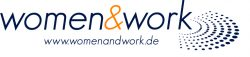 Logo womenwork mit Webadresse CMYK